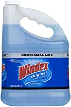 Windex Glass and Window Cleaner Refill, Original Blue, 1 Gallon