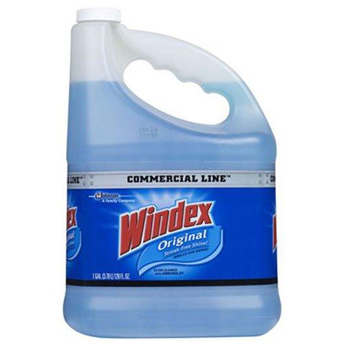 Windex 12207 original glass, 128 oz bottle, blue liquid Commercial line cleaner refill, 128 Fl Oz (Pack of 1)