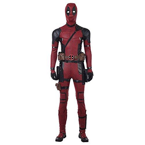 MODRYER Disfraz de Deadpool 2 Wade Wilson Mono de Cosplay Carnaval de Halloween Disfraz de Cuero Traje de Mono Traje de Fanáticos de Las Películas Personalización,Man/M/173~177cm