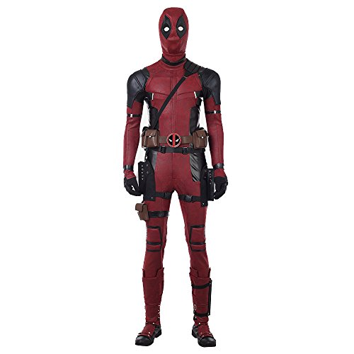 DP Movie Cosplay Costume Wade Costume Mask Set Deluxe Leather Jumpsuit Outfit Bodysuits Halloween Costumes MaleL