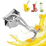 Exprimidor Manual Naranjas, Exprimidor de frutas ANGGREK Exprimidor zumo manual de acero inoxidable Exprimidor de limones...