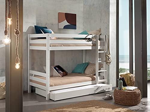Vipack Litera Pino de 160 cm de altura con cajón para cama.