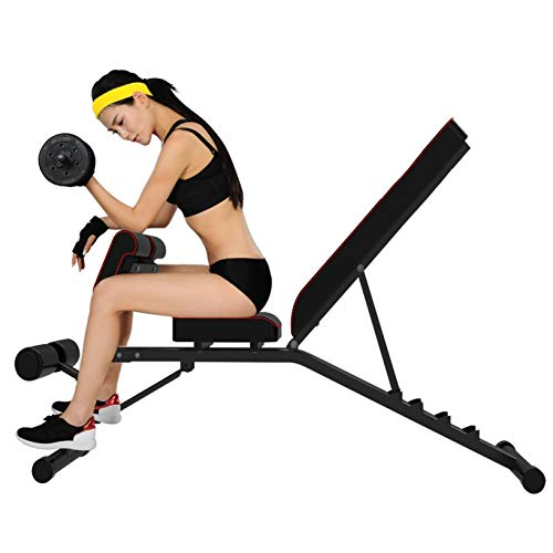 Adjustable Strength Training Bench, Weight Bench, Extension Bench for Multi-Position Workout (Black)