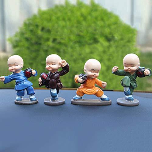 LINDU Vier kleine monniken auto decoratie dronken monnik pak decoratie Suit