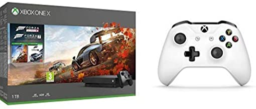 Microsoft Xbox One X - Consola 1 TB + Forza Horizon 4 Y Forza Motorsport 7 + Microsoft - Mando Inalámbrico: Amazon.es: Videojuegos