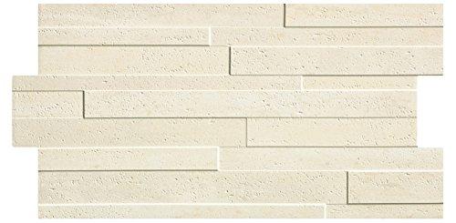 Piastrelle gres rivestimento Fiordo Impero effetto muretto pietra travertino in confezioni da 1,19 mq, Chester