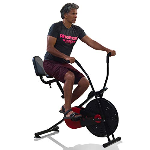 Lifelong LLFCN18 Fit Pro Plus Airbike Exercise Machine with Moving Handles & Back Support for Cardio...
