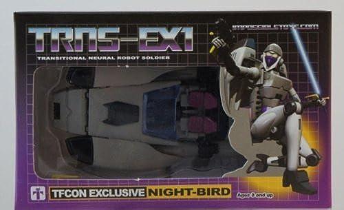 Impossible Toys Transformers trns-ex1 10 con Exklusive night-bird von unm ich Toys