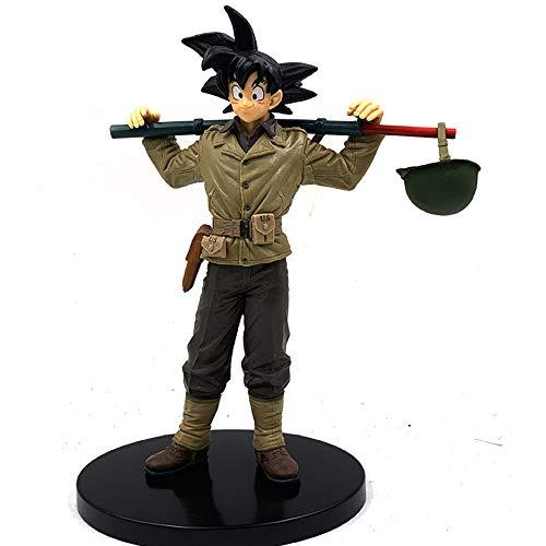 Dragon Ball World Congress Son Goku Sticks Mode Geschenk Statuen Dekorationen Animieren Charakter-Modelle Action-Figur Statue Dekoration 19CM -Elfen Animiert.