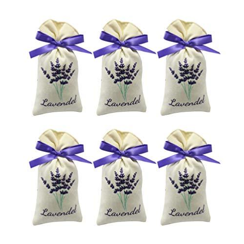 UPKOCH 6 Stücke Lavendel Beutel Leere Duft Lavendelsäckchen Süßigkeitstaschen Kordelzugbeutel Sack Duftsäckchen Lavendel Duft (Random Style)