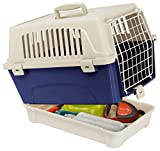 Ferplast Carrier with Object Compartment for Cats and Small Dogs TRANSPORTIN Atlas 10 Organizer, Negro, Mediano