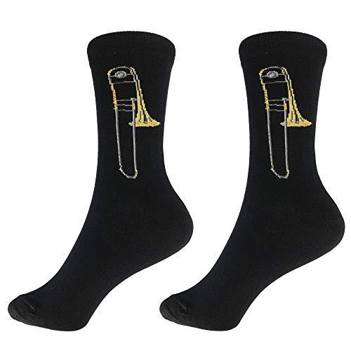 mugesh Musik-Socken Posaune (46/48) - Schönes Geschenk für Musiker