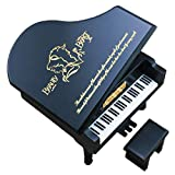 Beauty and The Beast Music Box Windup Engraved Wood Piano Musical Box,Musical Gift,Play Beauty and The Beast,Black