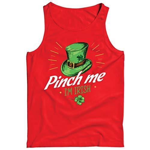 lepni.me Camisetas de Tirantes para Hombre Pellizco yo Soy Irlandés Día de San Patricio Divertido Traje de Fiesta (XL Rojo Multicolor)