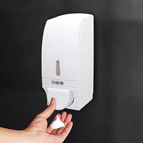 LDDLDG Dispensador de Jabón Bomba dispensadora de jabón de Espuma montada en la Pared, Botella dispensadora de jabón Blanco de plástico de fácil presión Manual for baño de Cocina, 700 ml