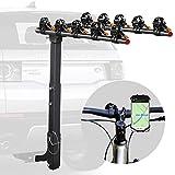 Vedouci Bicycle Car Rack Bike Hitch Rack Double Foldable Bike Carrier Rack for Cars, Trucks, SUVS and Minivans with 2'' Hitch Receiver, Bonus a Bike Phone Mount(5 Bike)