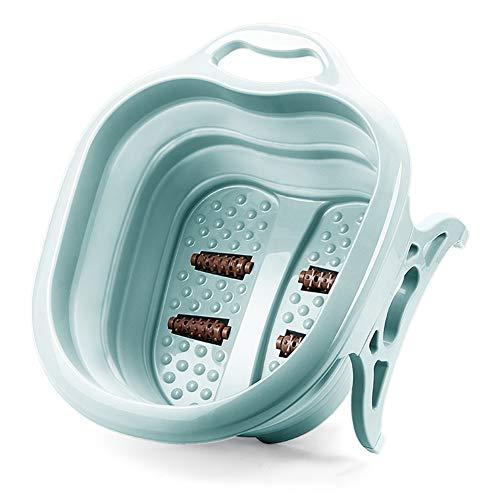 Dr.Lefran Fußbad Massagegerät, Faltbare badewanne Haushalt fuß einweichen Eimer klappbecken Kunststoff Schaum Massage Eimer, für müde füße stressabbau helfen schlafen,Grün