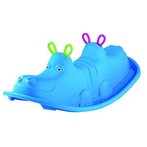 Dondolo bambini 1 anno da giardino interno dondolo per bambini da giardino per uso domestico hippo 3 colori a scelta (azzurro)