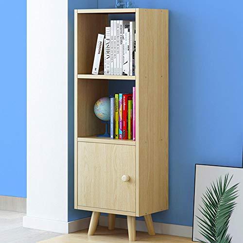 Bakaji Mueble librería de 2 estantes + Mueble con Puerta estantería Estructura de Madera MDF Diseño Moderno escandinavo Dimensiones 132 x 30 x 33 cm Mueble casa (Roble)