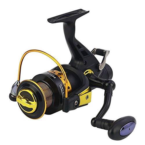 HXF- Pesca en Línea Doble-Cabeza del Metal Alivio Freno Delantero y Trasero Carrete de la Pesca de la Carpa Lanzar Caña Carrete de Pesca Precisión (Size : 3000)