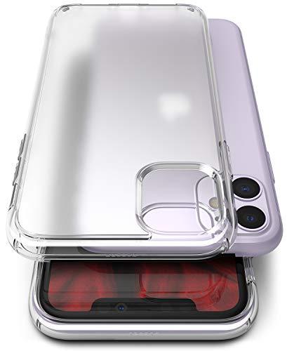 Ringke Fusion No-Smudge Matte Diseñado para Funda Apple iPhone 11, Anti Huella Digital Carcasa iPhone 11 6.1' Sin Manchas TPU + PC Funda para iPhone 11 2019 - Clear