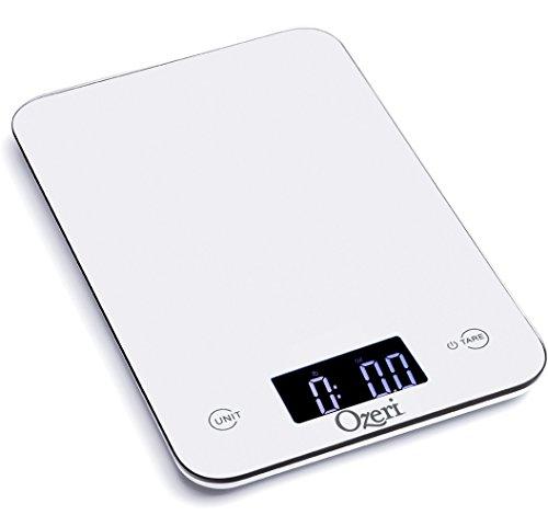 Báscula de Cocina Ozeri Touch Professional (edición de 5 kg Balanza de cocina), vidrio templado
