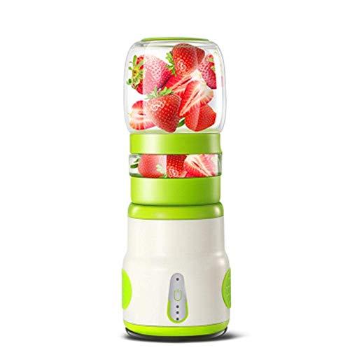 SCLL Saftpresse Elektrische Sicherheit Entsafter Tasse Fruchtsaft Mixer Mini Tragbare Wiederaufladbare Entsaften Mischen Crush EIS Mixer Mixer 401-500 ml Wasserflasche (Color, Blue),Green