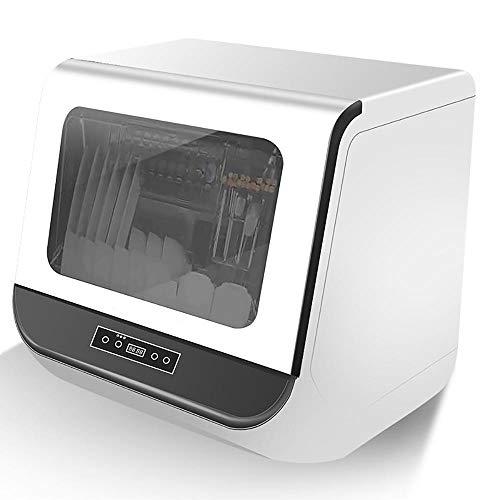 TischgeschirrspüLer Klein, WeißE Kleine GeschirrspüLmaschine mit Vollautomatischer Heizung, Intelligente Kompakte SpüLmaschine mit Doppeleffekt-Trocknungssystem