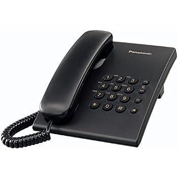 Panasonic KX-TS500 - Teléfono fijo con cable (tono configurable ...