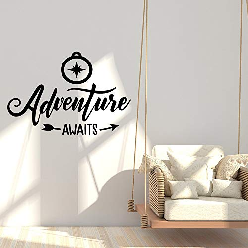 JXMN Aventura de Dibujos Animados Pegatinas de Pared de Dibujos Animados Cartel de Arte Mural Sala de Estar decoración de Dormitorio 56x56cm