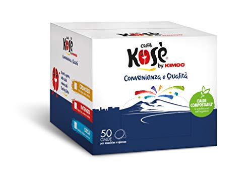 Kosè by Kimbo Cialde Compostabili ESE Decaffeinato, 50 Pezzi