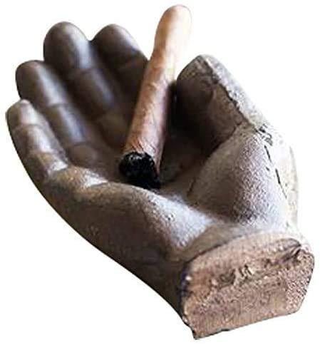 ABO Cenicero Antiguo de Mano de Hierro Fundido Úselo como cenicero al Aire Libre o en Interiores, cenicero de Cigarrillos, Fumadores fríos