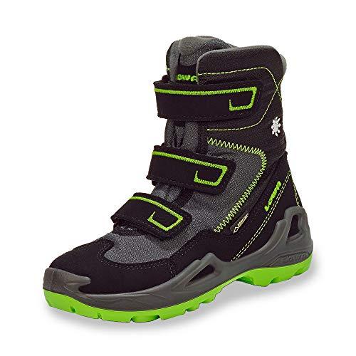 Lowa Milo GTX Hi Jr, Chaussures de Randonnée Hautes garçon, Multicolore (Black/Lemon 9903), 39 EU