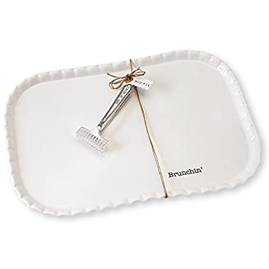Mud Pie Brunch Platter Serving Set, White