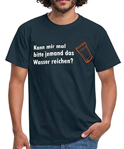 Schwarz Kann Mir mal Bitte jemand das Wasser reichen? T-Shirts Männer T-Shirt, XXL, Navy