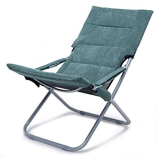 Outdoor Beach Chair, olding Siesta Stoel met Comortable Cushion en antislipbasis niet gemakkelijk om ade, kreukherstellende, of Tuin Outdoor, bruin zhihao (Color : Green)