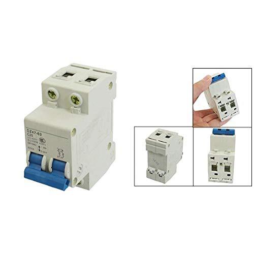 Interruptor de protección de cableado Dz47-63 C25 25 Amp 230 / 400Vac 6000A Energía de conmutación Interruptor de alimentación de 2 polos E89E-1