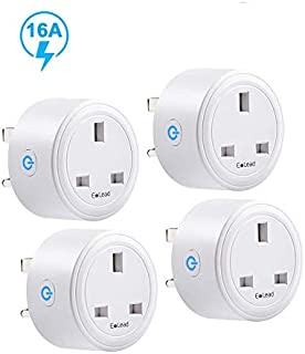ELEAD 16A Smart Plug Compatiable with Alexa Google Home WiFi Plug Outlet Socket Extension Mini Timer Remote Control Plugs for Air Conditioner Home High-power Appliance Supports 2.4GHz Network (4 Pack)