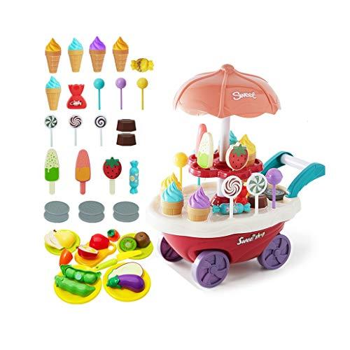 LHY - Juego de juguetes de cocina, Happy Little Chef pretends to Play with Toys, juego de cocina, juego de 36 piezas