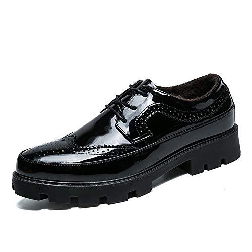 Sunny&Baby Chaussures de Sport à Talons Unis Oxford Leisure Comfort Classic pour Hommes, Couleur Unie Résistant à l'abrasion (Color : Noir, Taille : 39 EU)