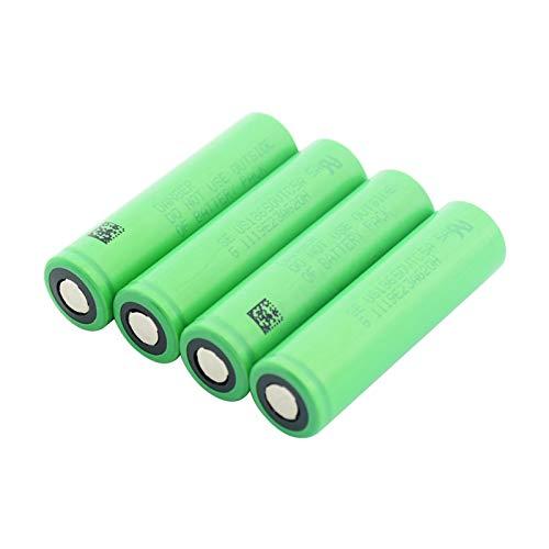 TTCPUYSA Batería Protegida De Carga De Repuesto De Alto Drenaje De 3.6v Us18650vtc5a 2600mah, Batería del Banco De Energía del Mini Ventilador 4pieces