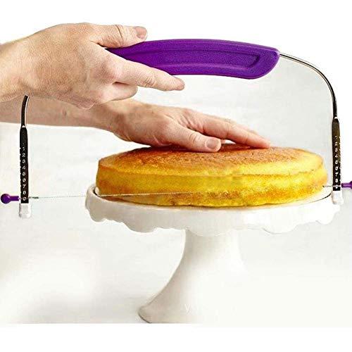 Verstelbare Roestvrij Staaldraad Brood Cake Sägeschneider Deeg Special Bakken Pannen, Cake Roestvrij Stalen Kotter,Metallic