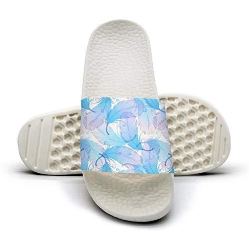 Watercolor Peacock Featherwhite Man Best Slipper Lightweighted Open Toe Flat Sports Slide Sandals