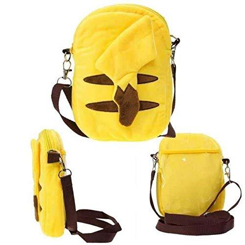 Yunxin Pokemon Bag Plush Backpack Pikachu Snorlax Charmander 19CM Children's Messenger Boys and Girls Coin Purse Gifts
