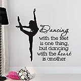WGWNYN Ballet coreografía Etiqueta de la Pared decoración del hogar Sala de Estar Bailarina Cita...
