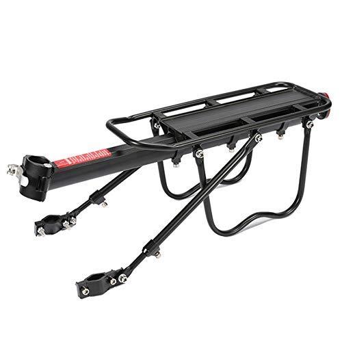 DXX-HR - Portabici in lega di alluminio, telaio per bagagli, portapacchi posteriore, per biciclette e mountain bike, con chiave di montaggio