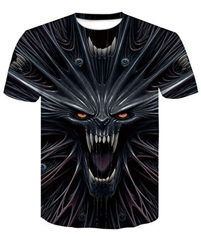 Carnaval carnaval Unisex 3D print heren T-shirt zomer casual korte mouwen Fun T-stukken dierlijke zwarte draak mode Streetwear