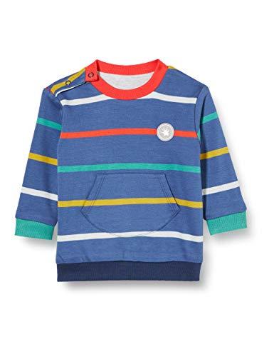 Sigikid Baby-Jungen Wendeshirt aus Bio-Baumwolle, Größe 062-098 Pullover, Blau/Fahrzeug, 74