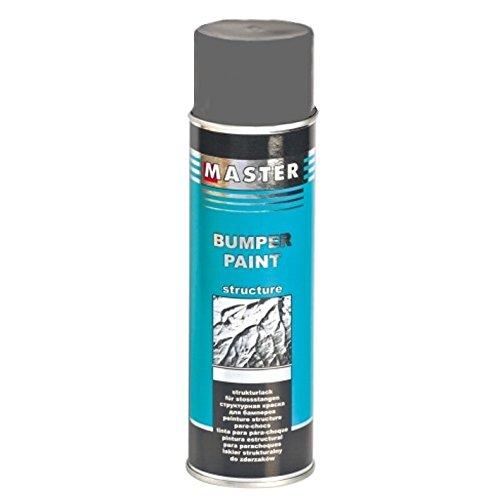 Troton Kunststoff Struktur Spray 1 x 500ml GRAU Bumper Paint Structure DUNKELGRAU Lack mit Acrylharz