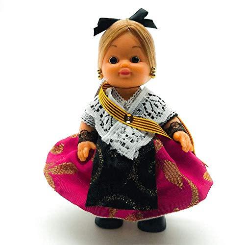 Amazon.es: Folk Artesanía Muñeca Regional colección de 15 cm con Vestido típico Catalana Barcelona Cataluña España.: Juguetes y juegos